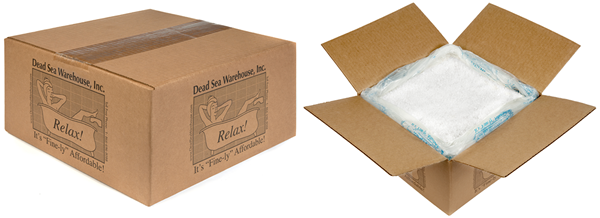 "25# ""Bulk-In-A-Box"" Dead Sea Warehouse Amazing Minerals Bath Salts"