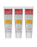 Dead Sea Warehouse Amazing Minerals Mud Mask Travel Tube (Pack of three 1 oz. Tubes)