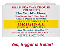 Dead Sea Warehouse Amazing Minerals Original Salt Soap Face & Body Bar - THE BIG BAR!