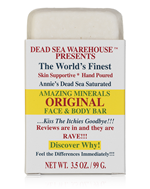 Dead Sea Warehouse Amazing Minerals Original Salt Soap Face & Body Bar