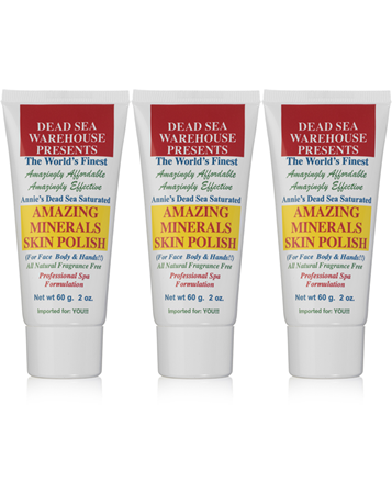 Dead Sea Warehouse Amazing Minerals Skin Polish Travel Tube (Pack of three 2 oz. Tubes)